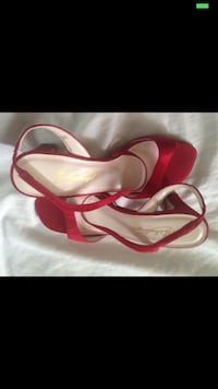 red open toe slingback chunky heeled sandals Gainesville, 32607