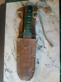 Military knife and sheath