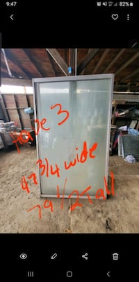 Extra large glass sliders/doors (all 3 for 350$ OBO)
