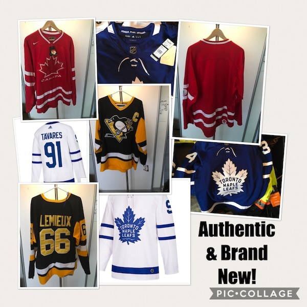 release date d8bee 3781b Maple Leafs Tavares and Mathews, Lemieux & Team Canada Authentic