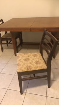 two brown wooden framed padded chairs Oakville, L6H 6J6