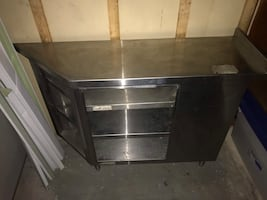 Stainless steel corner cabinet