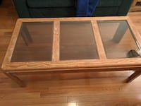 Coffee Table with Glass Panes Jersey City