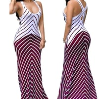 Plus Size Criss-cross Back Maxi Dress  Baltimore, 21215