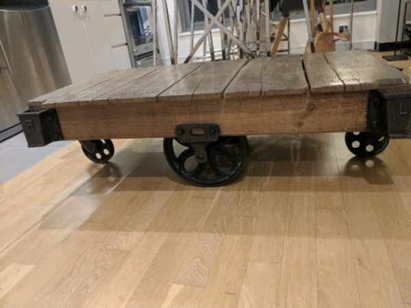 Cart Coffee Table Restoration Hardware.Restoration Hardware Furniture Cart Coffee Table