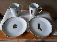 4 pc Gold trim porcelain set Hamilton, L9A 5J2