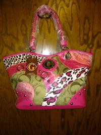 pink, green, and white floral handbag New Hope