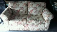 white and pink floral loveseat Davenport, 33897