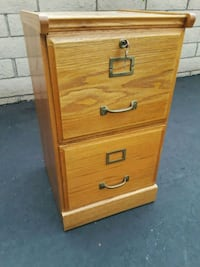 brown wooden 2-drawer filing cabinet Huntington Beach, 92649