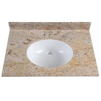 St. Paul 31 in. Stone Effects Vanity Top in Tuscan Sun with White Basin Burnsville, 55337