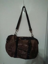 brown and black leather crossbody bag Medicine Hat, T1A 4M4