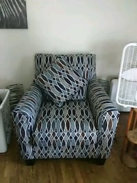 two gray-and-white sofa chairs Moline, 61265