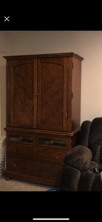 brown wooden cabinet with mirror Virginia Beach, 23452