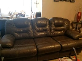 Recling Leather sectional