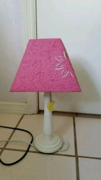 pink and white table lamp Alva, 33920