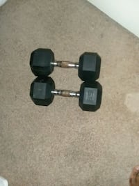 black and gray fixed weight dumbbells New Orleans, 70131