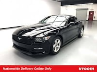 2015 Ford Mustang Black coupe Houston