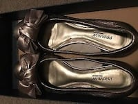 Pewter Leather Flats Calgary, T3M