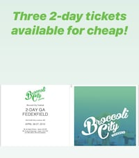 Broccoli Fest 2-day Tickets Washington, 20019