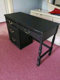 black wooden single pedestal desk Germantown, 20874