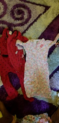 baby's pink and white footie Toronto, M6M 4R5