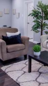 Accent chairs - used for staging 39 km