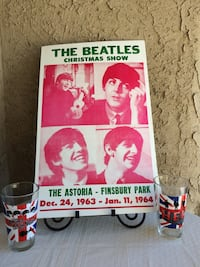 Beatles Poster and Glasses Modesto, 95355