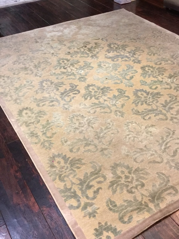 Used White And Blue Floral Area Rug For Sale In Pleasanton