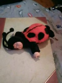 black and red bear plush toy Saint Thomas, N5P 2X4