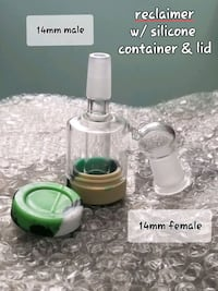 14mm water pipe rig attachment reclaimer 45°