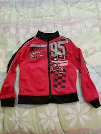 Cars zip up sweater 5T Vaughan, L4L 1A6