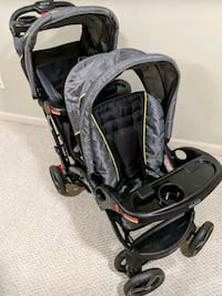 New Baby Trend Sit and Stand double Stroller Sterling, 20166