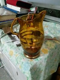 amber glass pitcher Moline