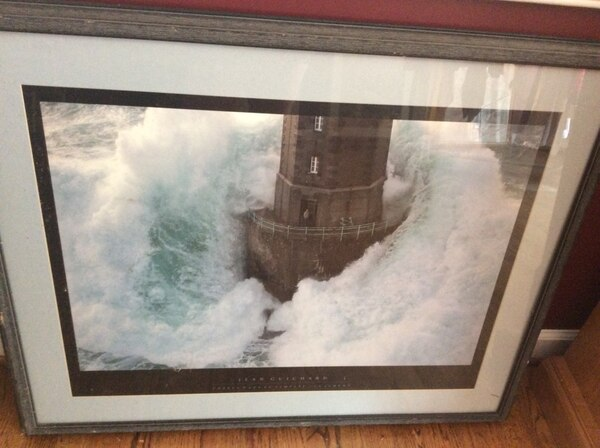 Professionally matted and framed lighthouse picture