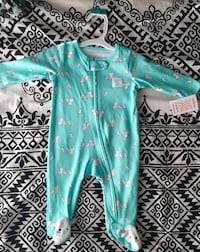 Baby's teal and white sheep print footie Suisun City, 94585