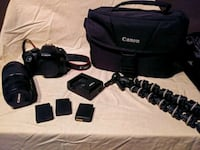 black Canon DSLR camera with bag Sunnyvale, 94089