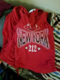 red and black crew neck shirt Brooklyn, 11213