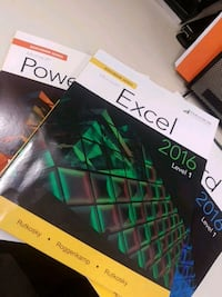 Excel, Word, Powerpoint level 1 books and workbook Toronto, M8Z