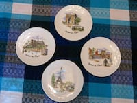 Notre Dame and 3 other Paris souvenir plates Stony Plain