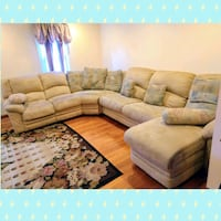 Microfiber sectional couch North Brunswick Township