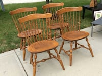 Set of 4 natural finish windsor chairs McCordsville, 46055