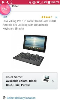 Brand new tab with keyboard