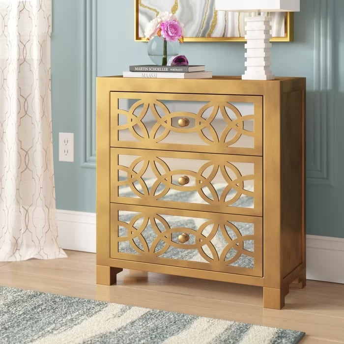 New drawer accent chest
