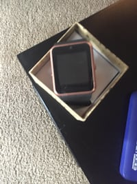 Pink and silver smart watch 1814 mi