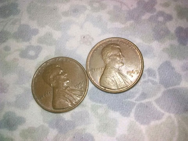 1959 D penny worth 30$ 1969 D penny worth 20