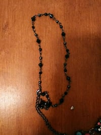 black and brown beaded necklace Anderson, 96007