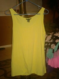 women's yellow sleeveless top Oklahoma City, 73159