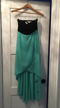 women's green and black strapless dress Oakville, L6L
