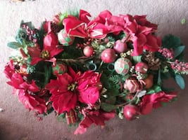 Macy's Christmas floral centerpiece