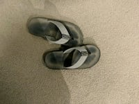 pair of gray leather sandals Tracy, 95376